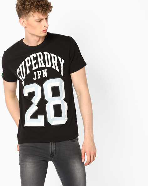 Varsity Print Crew Neck T-shirt By SUPERDRY ( Awf )