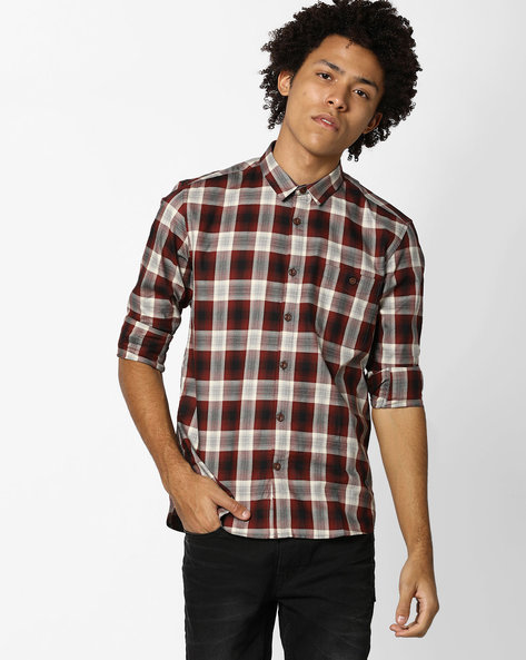 Checked Slim Fit Shirt By VOI JEANS ( Multicolor ) - 460118056001