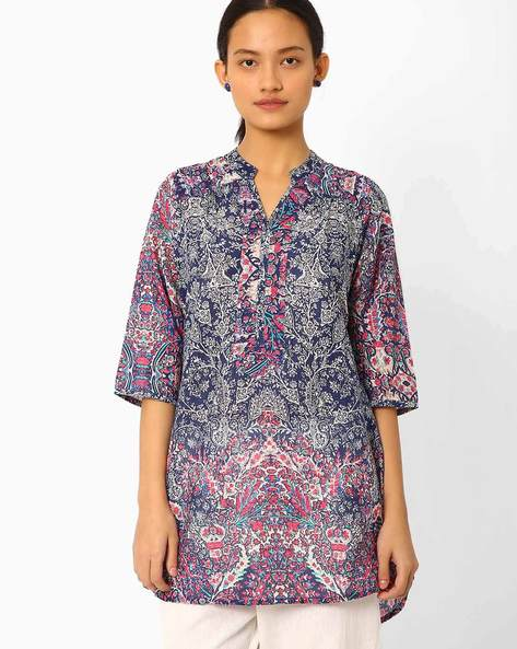 Printed High-Low Tunic By AYAANY ( Multi )