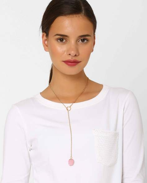 Dainty Lariat Necklace By Style Fiesta ( Multi )