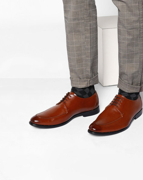 Lace-Up Formal Derby Shoes By Modello Domani ( Brown )
