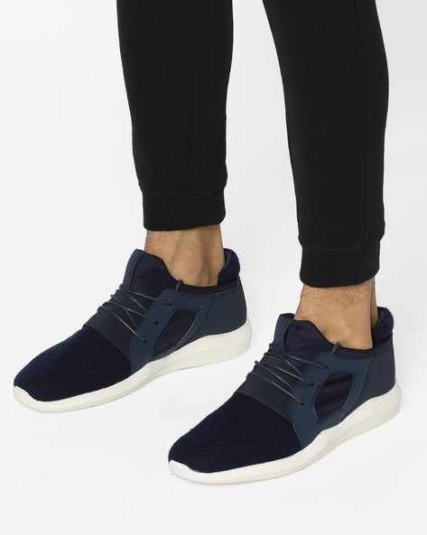 Lace-Up Panelled Shoes By AERO BLUEZ ( Navy )