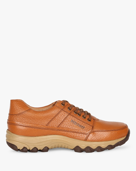 Lace-Up Textured Casual Shoes By RED CHIEF ( Brown )