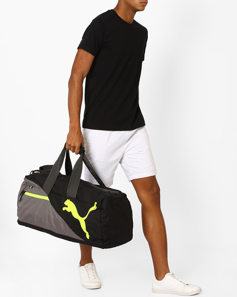 Colourblock Duffel Bag By Puma ( Grey )