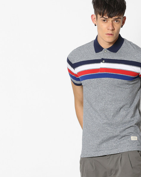 Striped Polo T-shirt By UNITED COLORS OF BENETTON ( Assorted )