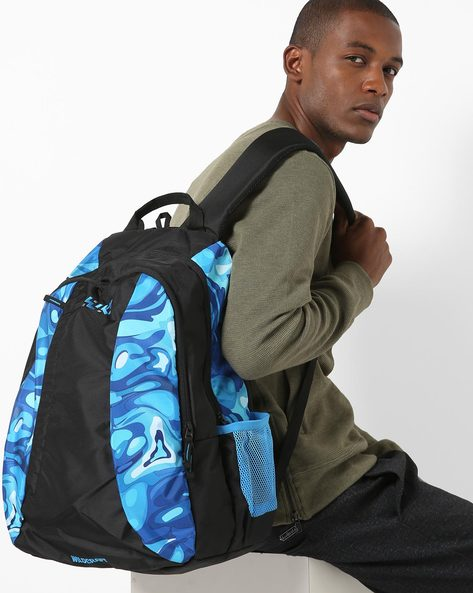 Printed Backpack With Padded Straps By Wildcraft ( Blue )