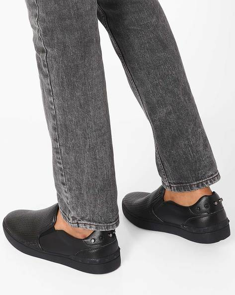 Slip-Ons With Cutouts By Muddman ( Black )