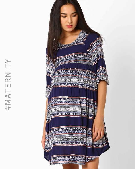 Printed Maternity Shift Dress By Oxolloxo ( Multi )