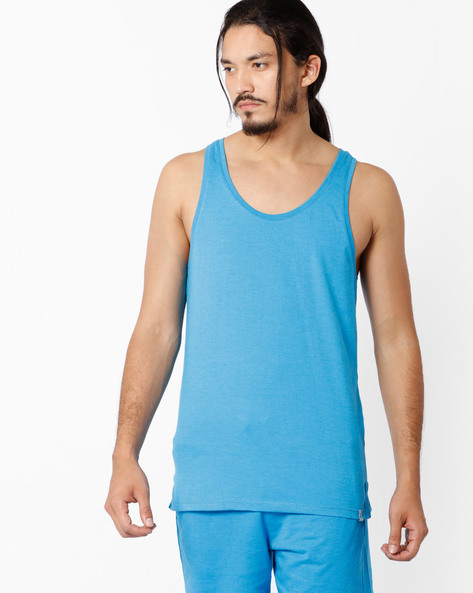 Cotton Tank T-shirt By Under Colors Of Benetton ( Blue )