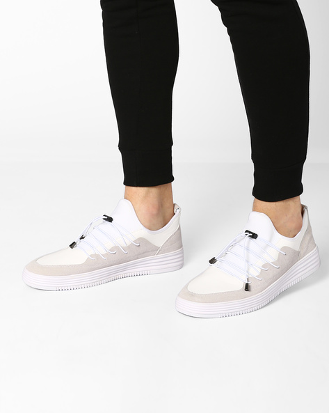 Sneakers With Toggle Closure By Muddman ( White )