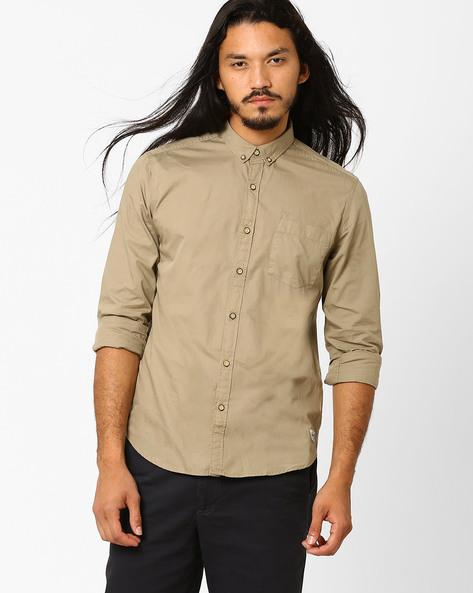Casual Slim Cotton Shirt By FLYING MACHINE ( Assorted ) - 440720150001