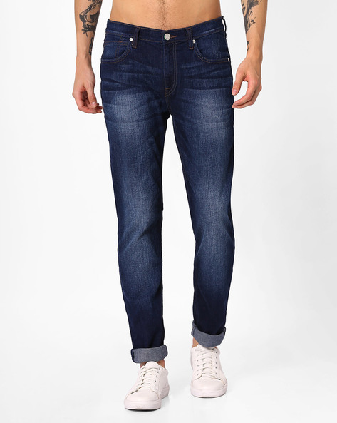 Lightly Washed Skinny Jeans By Lee ( Blue )