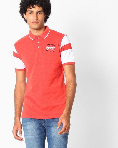 Cotton Polo T-shirt By TEAM SPIRIT ( Orange )