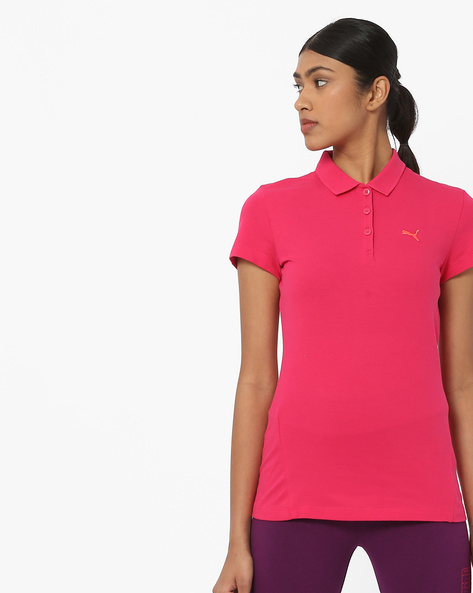 Polo T-shirt With Short Sleeves By Puma ( Rose )