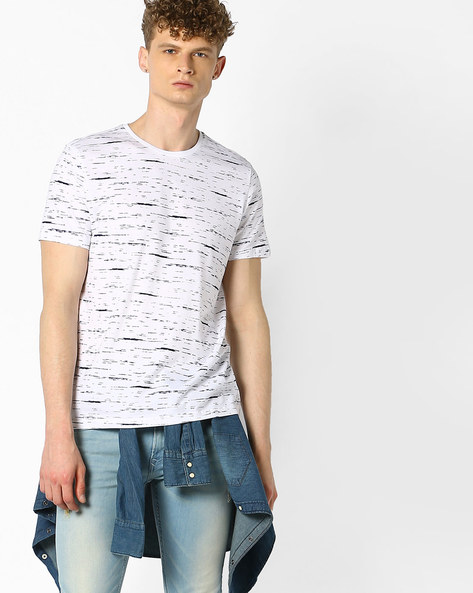 All-Over Print Cotton T-shirt By UNITED COLORS OF BENETTON ( White )