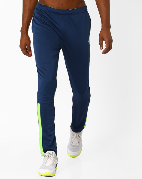 Regular Fit QuickDry Knitted Track Pants By PERFORMAX ( Blue )