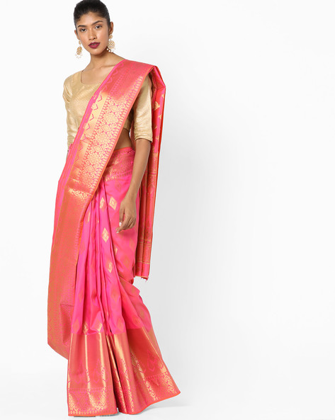 Banarasi Art Silk Zari Woven Saree By Parmita ( Pink )
