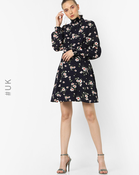 Floral Print Fit & Flare Dress By OEUVRE ( Multi )