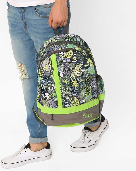 Burner Casual Printed Backpack By F-GEAR ( Green )