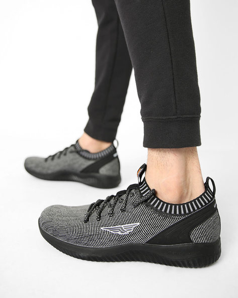 Low-Top Lace-Up Sports Shoes By RED TAPE ( Black ) - 460150170004