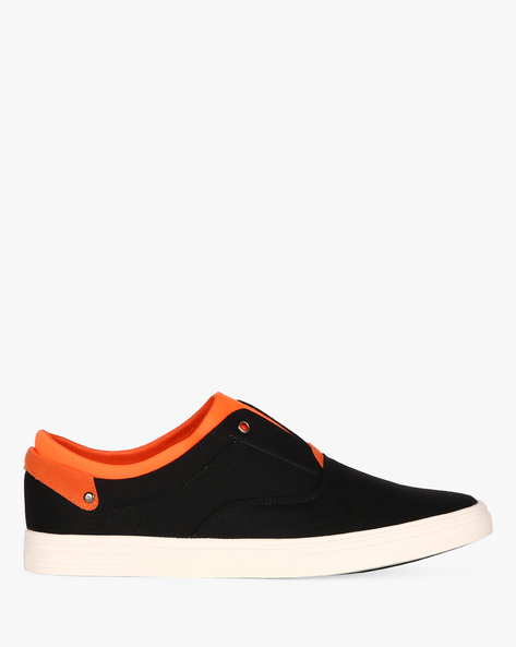 Slip-On Sneakers With Extended Tongue By Nuboy ( Black )