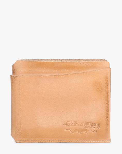 Genuine Leather Bi-Fold Wallet By Jack & Jones ( Orange )