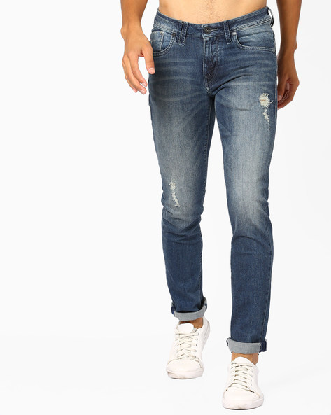 Mid-rise Skinny Fit Jackson Jeans By FLYING MACHINE ( Blue )