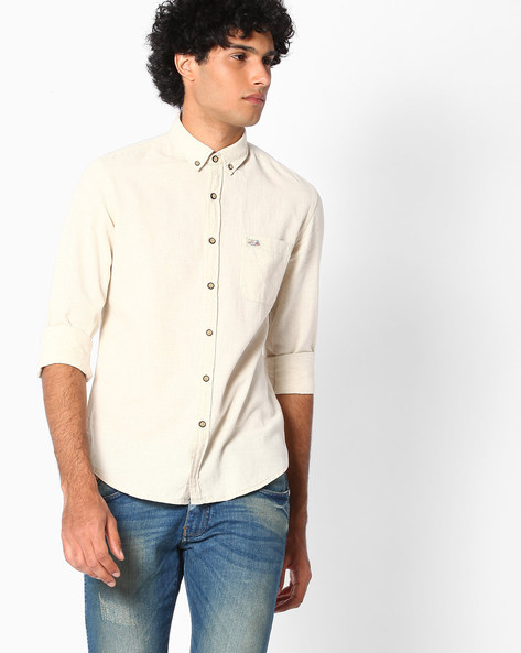 Slim Fit Shirt With Button-Down Collar By US POLO ( Assorted )