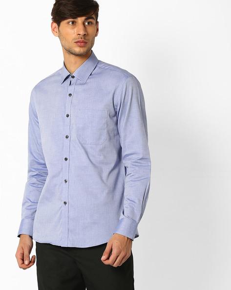 Regular Fit Formal Shirt By NETWORK ( Blue )