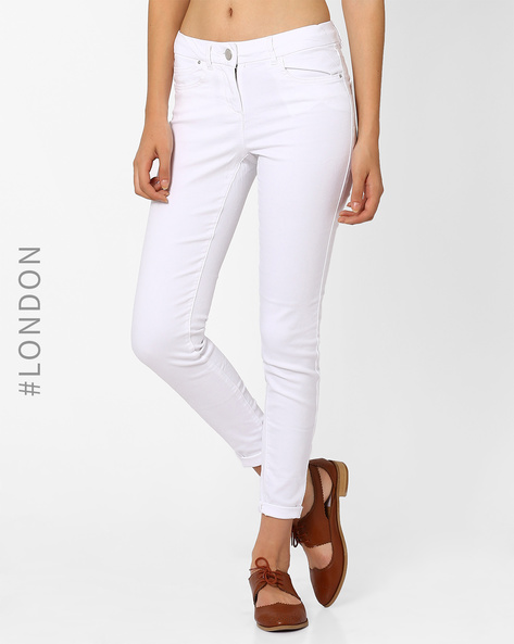 Low-Rise Jeggings By Marks & Spencer ( White )