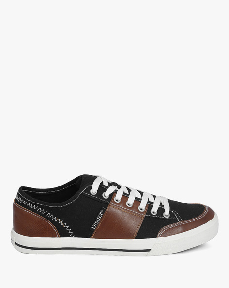 Balboa Panelled Sneakers By DEXTER MEN ( Black )