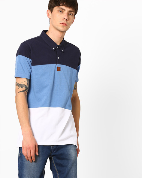 Cut & Sew Polo T-shirt By Garcon ( Assorted )