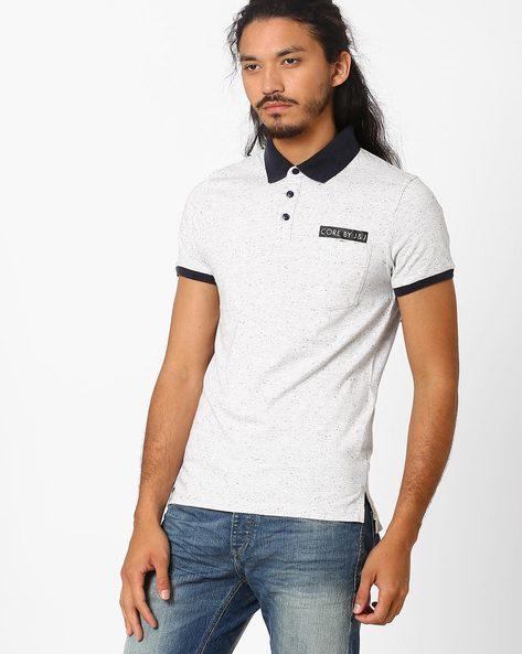 Slim Fit Polo T-shirt By Jack & Jones ( White )