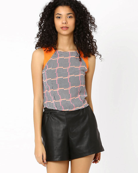Printed Sleeveless Top By Candies By Pantaloons ( White )