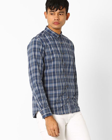 Checked Slim Fit Cotton Shirt By FLYING MACHINE ( Assorted )