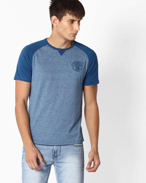 Round Neck T-shirt With Raglan Sleeves By TEAM SPIRIT ( Blue )