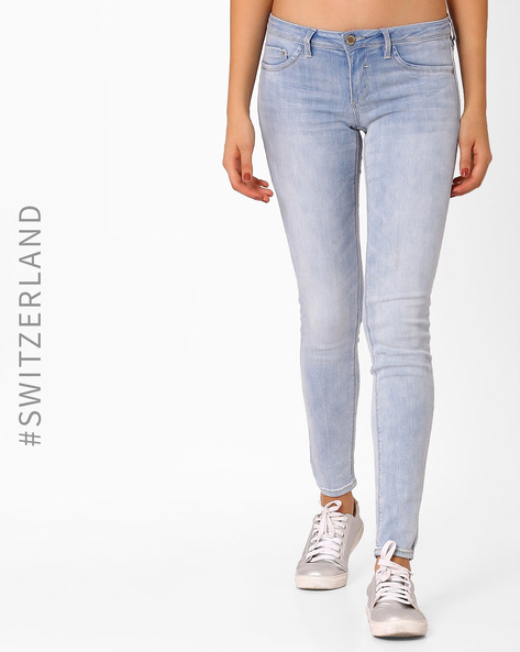 Low-Rise Skinny Jeans By TALLY WEiJL ( Darkblue )