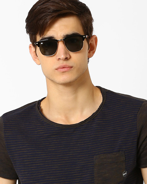 UV-Protected Clubmaster Sunglasses By MTV ( Green )