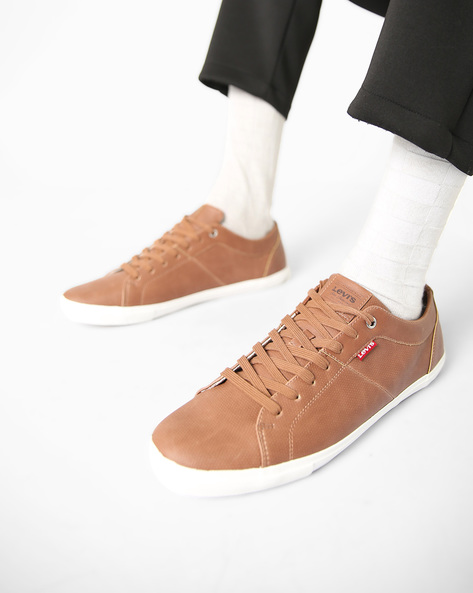 Woods Lace-Up Casual Shoes By LEVIS ( Brown )