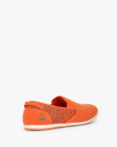 Panelled Slip-On Shoes With Mesh Quarter By UNITED COLORS OF BENETTON ( Orange )