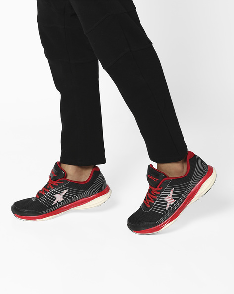 Textured Sports Shoes With Contrast Detailing By SPARX ( Black )