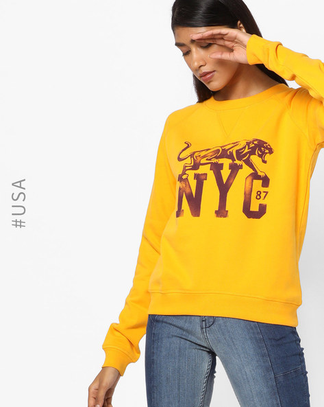Graphic Print Sweatshirt By Aeropostale ( Red )