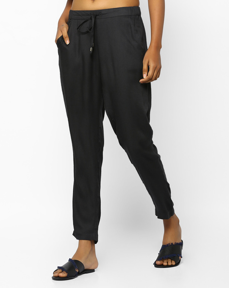 Mid-Rise Ankle-Length Pants By PE WW Work ( Grey )