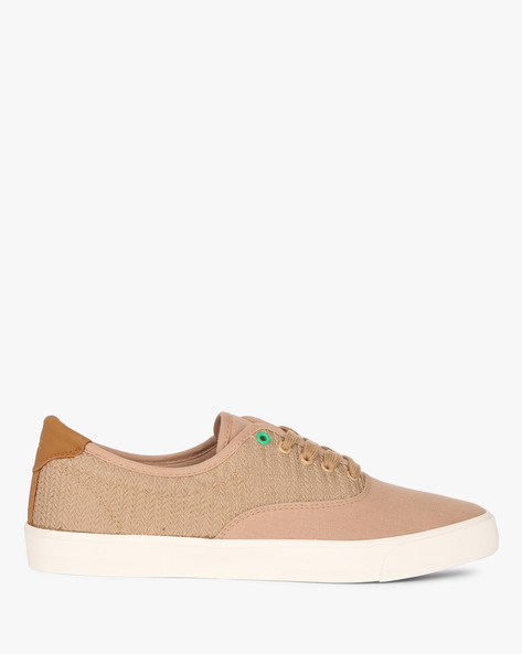 Textured Canvas Sneakers By UNITED COLORS OF BENETTON ( Khaki )
