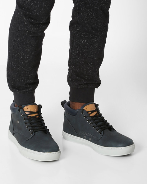 Mid-Top Casual Shoes By British Knights ( Navy )