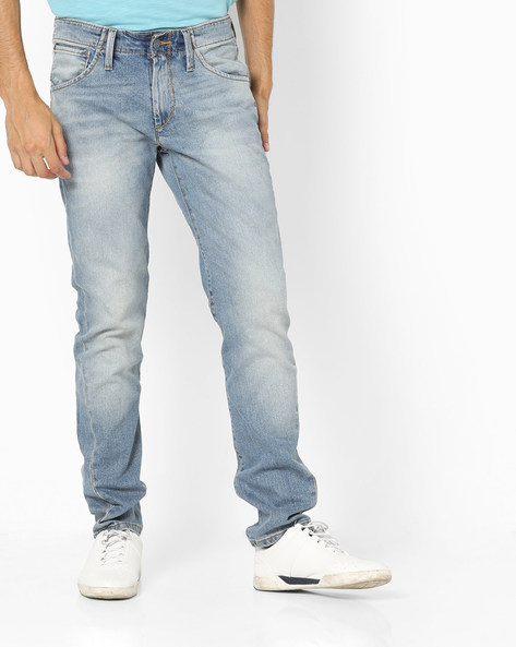 Washed Slim Fit Jeans By LEVIS ( Blue )