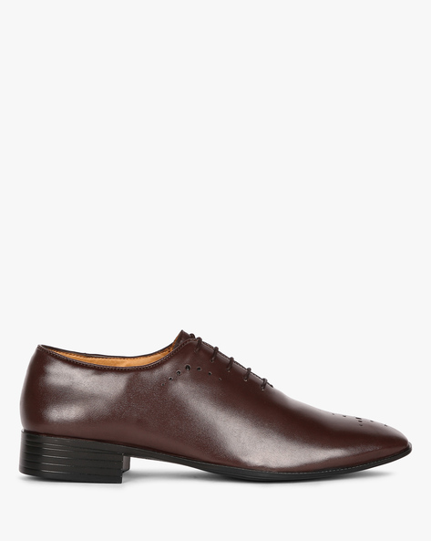 Wholecut Oxford Shoes With Broguing By ESCARO ( Brown )