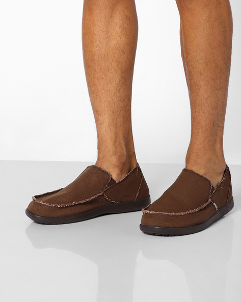 Textured Slip-On Casual Shoes By CROCS ( Espresso )