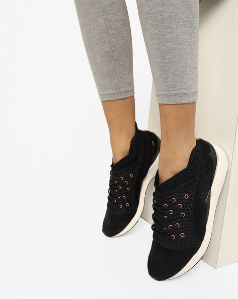 Mid-Top Slip-On Shoes By Puma ( Black )
