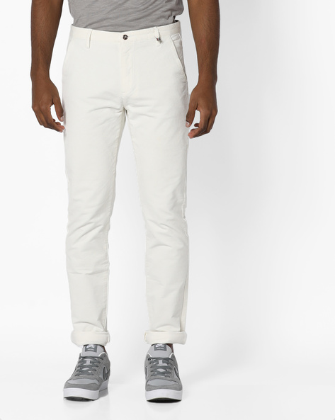 Slim Fit Jeans By RexStraut JEANS ( White )